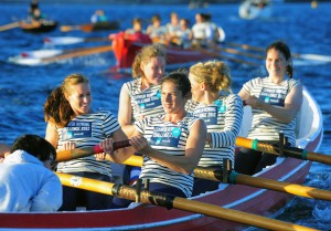 GB Ladies Rowing Team at The Cornish Rowing Challenge in St Mawes.